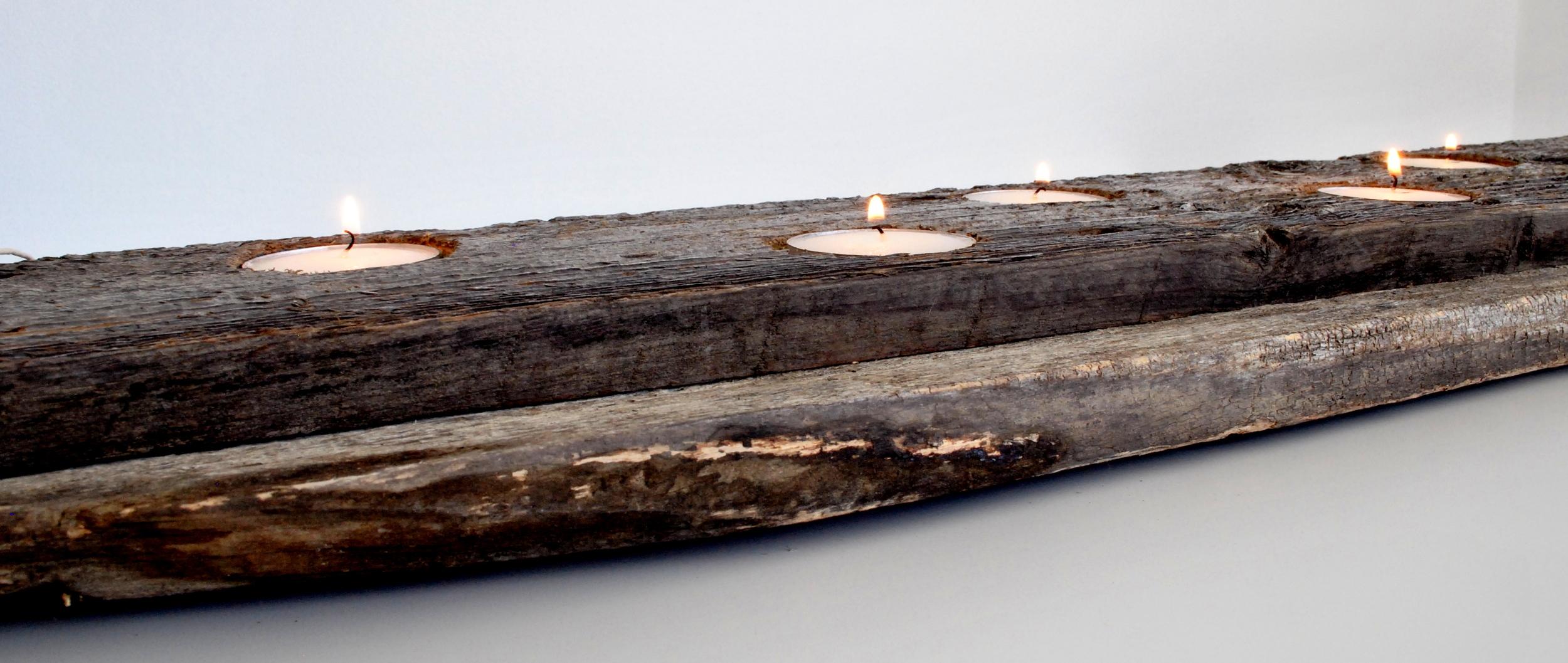 Barn Wood Rustic Tea Light Holders