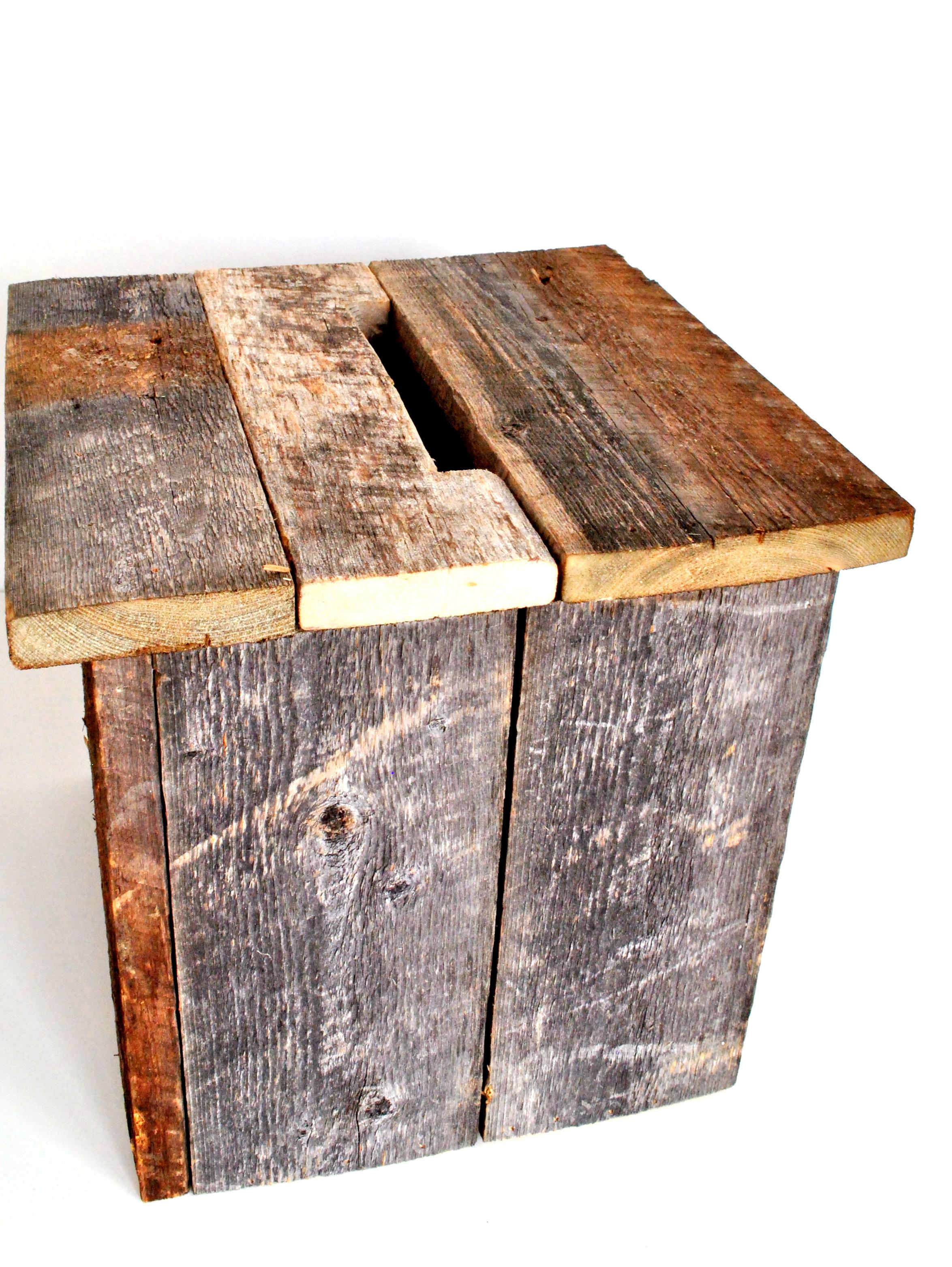 Barn Wood Card Box