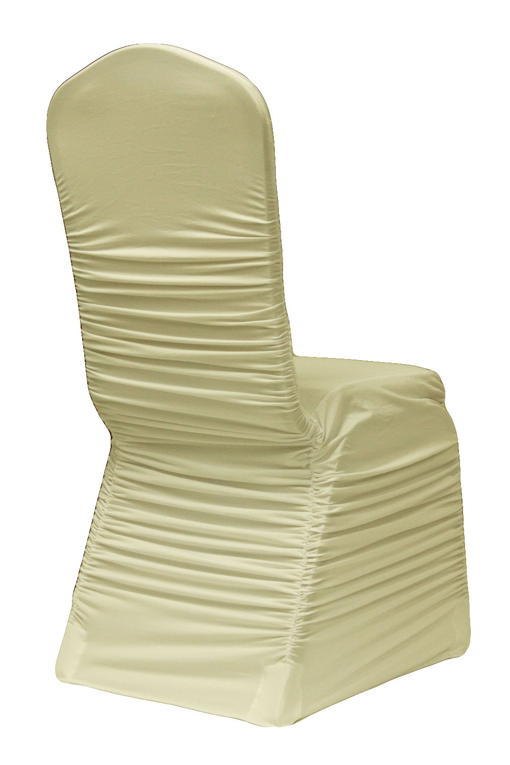 Ivory Ruched Spandex