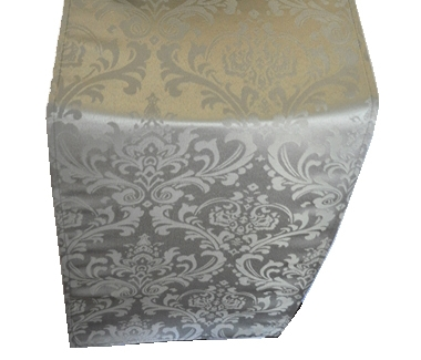 Solid SIlver Damask
