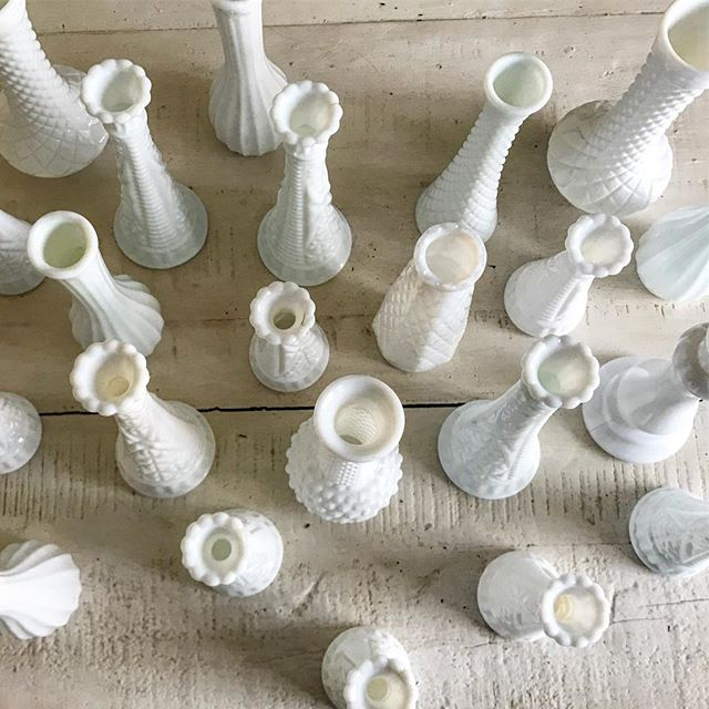 Assorted Milk Vases