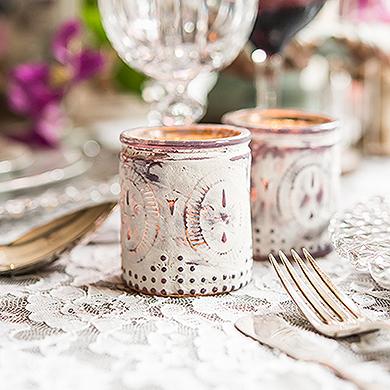 Vintage Inspired Depression Candle Holders