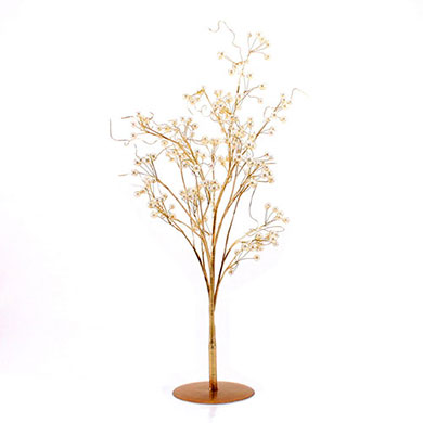 Pearl and Vintage Wire Tree Centerpiece