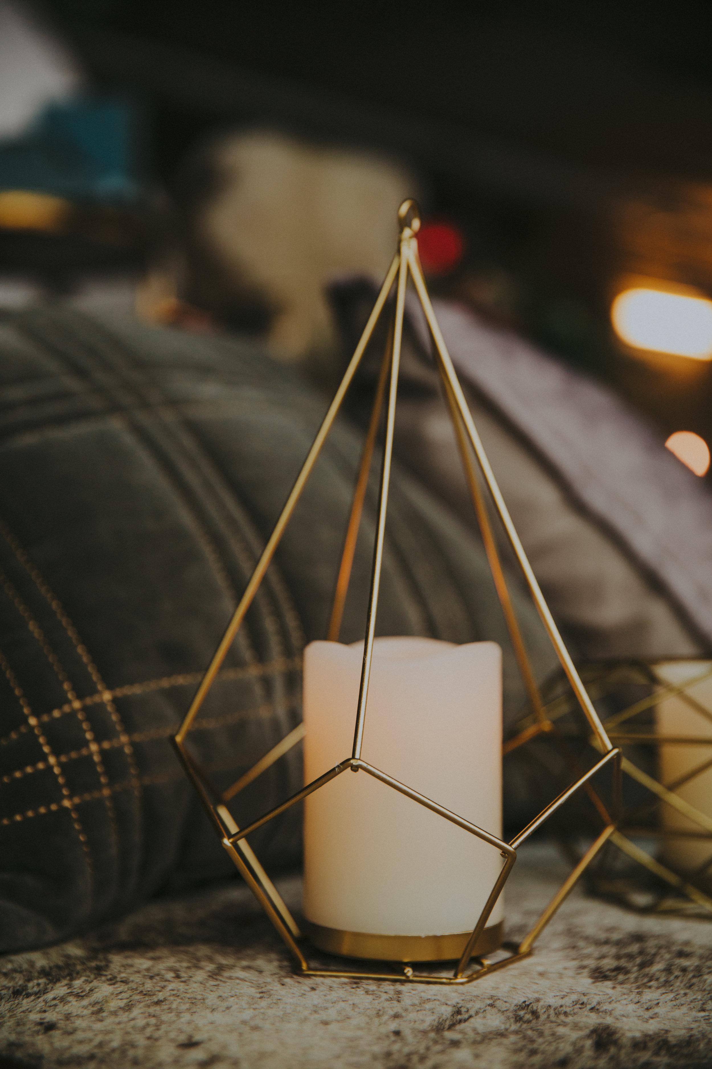 Pyramid Geo Vase/Candle Holder