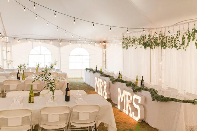 MR. &  MRS MARQUEE SIGN