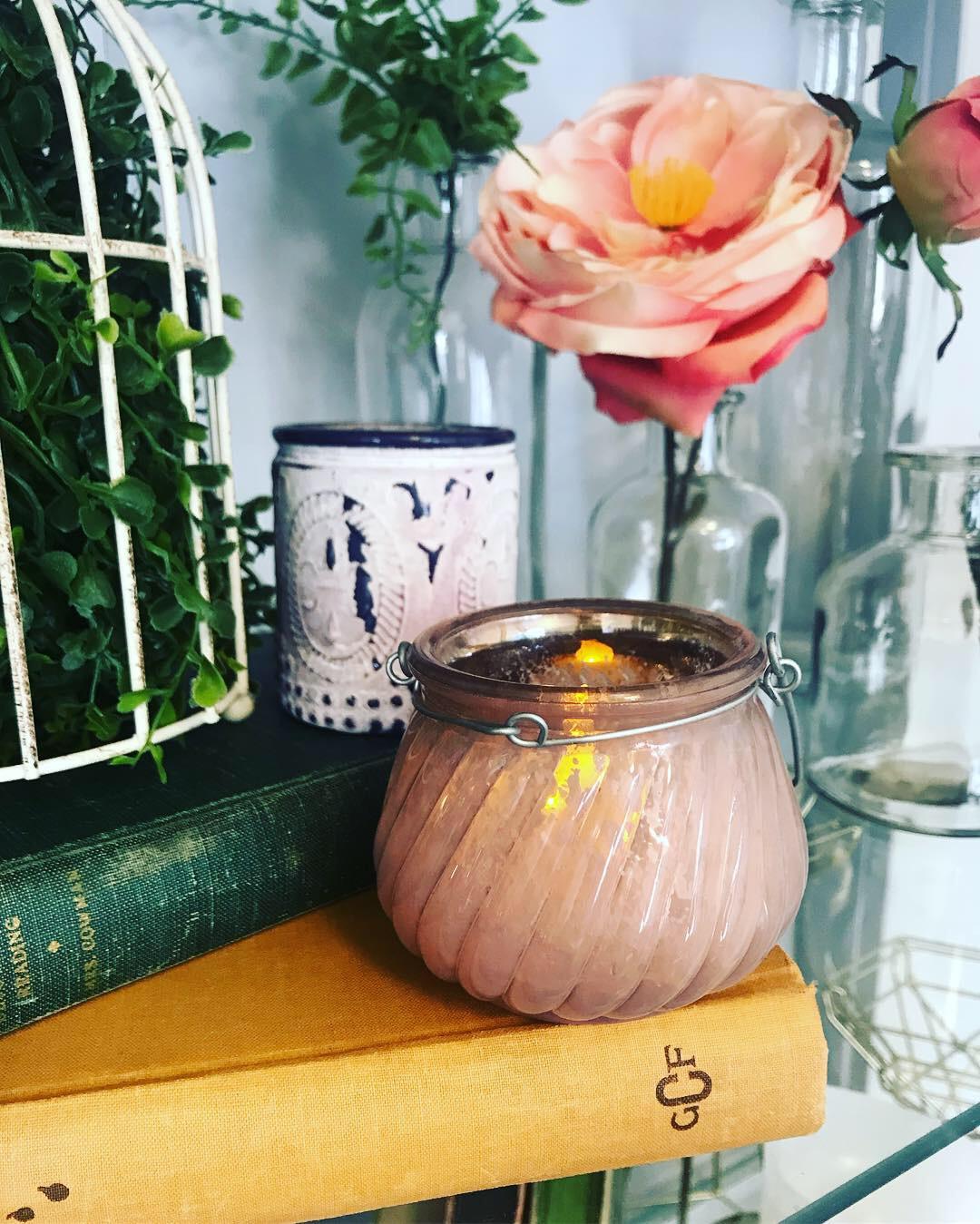 Light Pink Mercury Tea Light Holder