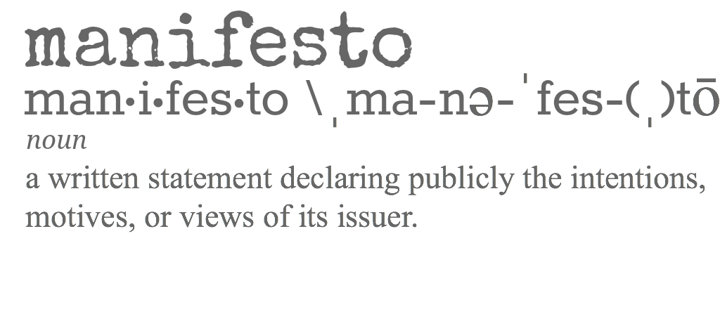 What should be in our manifesto? What inspires you? What is something you often say to encourage your girlfriends? We want to know.