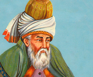Rumi, a 13th century Persian poet and Sufi mystic    Famous as: Great Poet   Nationality: Afghan, Iranian   religion: Muslim   Born on: 30 September 1207 AD    Zodiac Sign: Libra    Born in: Wakhsh (present-day Tajikistan)   Died on: 17 December 1273 AD   Maulana Jalaluddin Rumi was a 13th century Persian poet, an Islamic dervish and a Sufi mystic. He is regarded as one of the greatest spiritual masters and poetical intellects.   Rumi was a disciple of Sayyed Burhan ud-Din Muhaqqiq Termazi, one of his father's students. Under the guidance of Sayyed Termazi, he practiced Sufism and acquired a lot of knowledge about spiritual matters and secrets of the spirit world.    Read more at http://www.thefamouspeople.com/profiles/rumi-20.php#XwafuFp52PbbUxqe.99