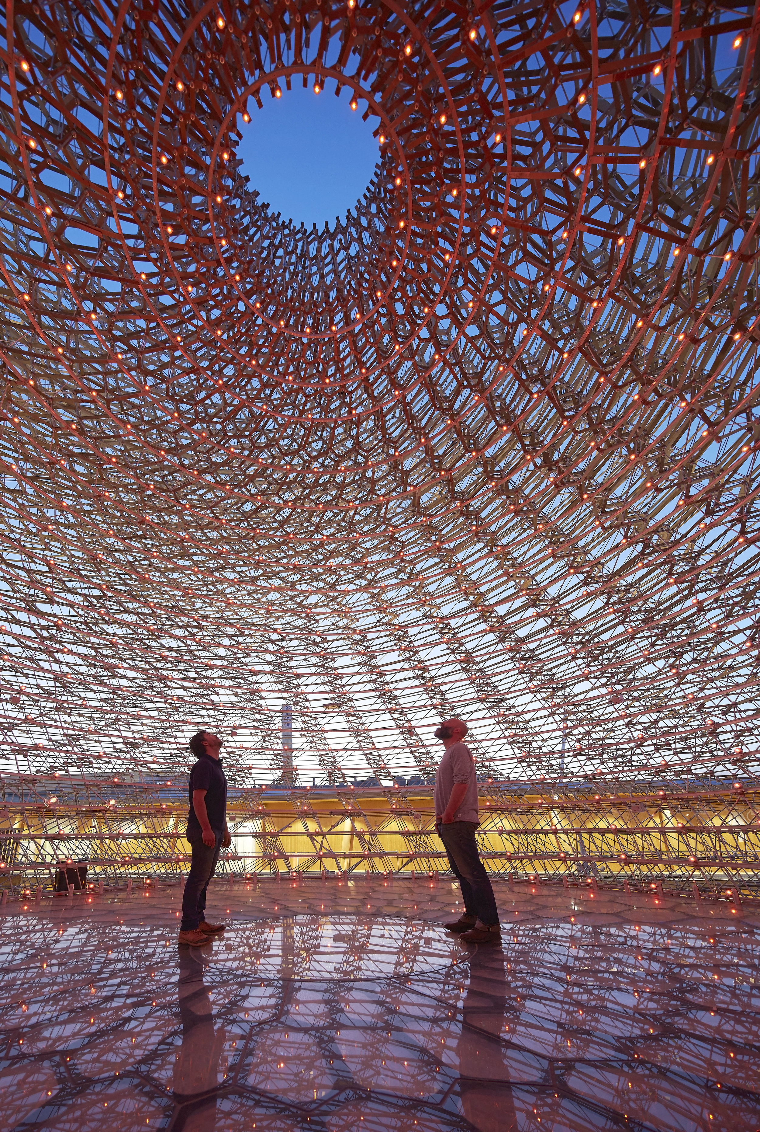 Inside The Hive at Milan Expo 2015 - image:  Hufton & Crow