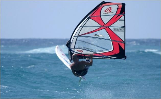 windsurfing at the Boatyard