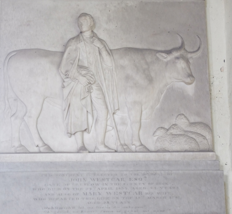 John Westcar monument at Whitchurch