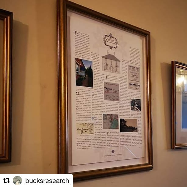 One of our recent projects that Cathy posted about on her genealogy page:  #Repost @bucksresearch (@get_repost) ・・・ Latest wall history produced with @benchmarkhousehistories and framed by @julessainterframer1 for a client. This one was of a lovely late Victorian house in rural Buckinghamshire #househistory #househistories #victorian #victorianhouse #buckinghamshire #propertyhistories #propertyhistory #househistorian #househistorian #housedetective  #housedetectives #ahousethroughtime #oldhouses #wholivedtherebefore #everyhousehasastorytotell #ifwallscouldspeak #houseportraits
