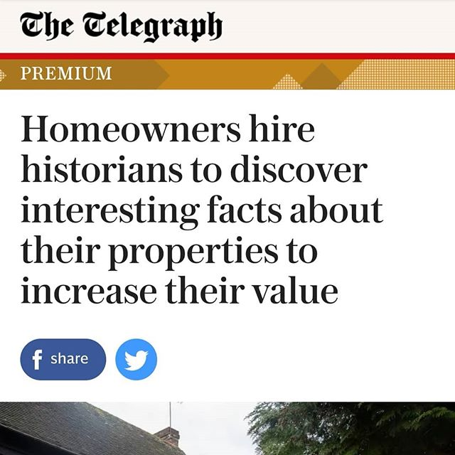 Lovely piece about us in The Telegraph today - thank you so much Johannes! SEE LINK IN BIO!  #househistoryresearch #househistory #househistories #propertyhistories #propertyportraits #architecturalhistorian #architecturalhistory #ahousethroughtime #housesthroughtime #ashridge #nettleden #ifwallscouldspeak #ifwallscouldtalk #everyhousehasastorytotell #housedetective #johanneslowe #housedetectives #mypropertyspast#thetelegraph #telegraph #carolfulton #benchmarkhousehistories #tring #cathysoughton #addingvalue #thehistoryofahouse