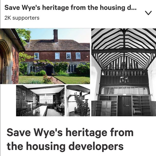 Save 15th century Grade I listed buildings in Kent - in the beautiful village of Wye - from developers. Please sign - see LINK IN BIO #wye #kent #15thcentury #oldbuildings #oldbuilding #gradeone #grade1listed #listedproperty #listedproperties #historicbuildings #historicbuilding #architecturalhistory #wyecollege #ashford #wyecollegeregenerationactiongroup #propertyhistories #propertyhistory #househistoryresearch #househistories #heritage #heritageproperty #listedbuilding #listedbuildings #wyecollege #wye