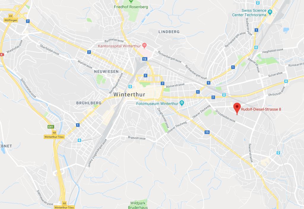 neuer Standort in Winterthur