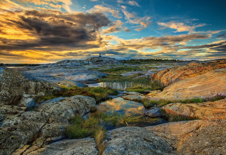 Et geologisk mesterver  k .Ralandskap på Herføls sydligste område.