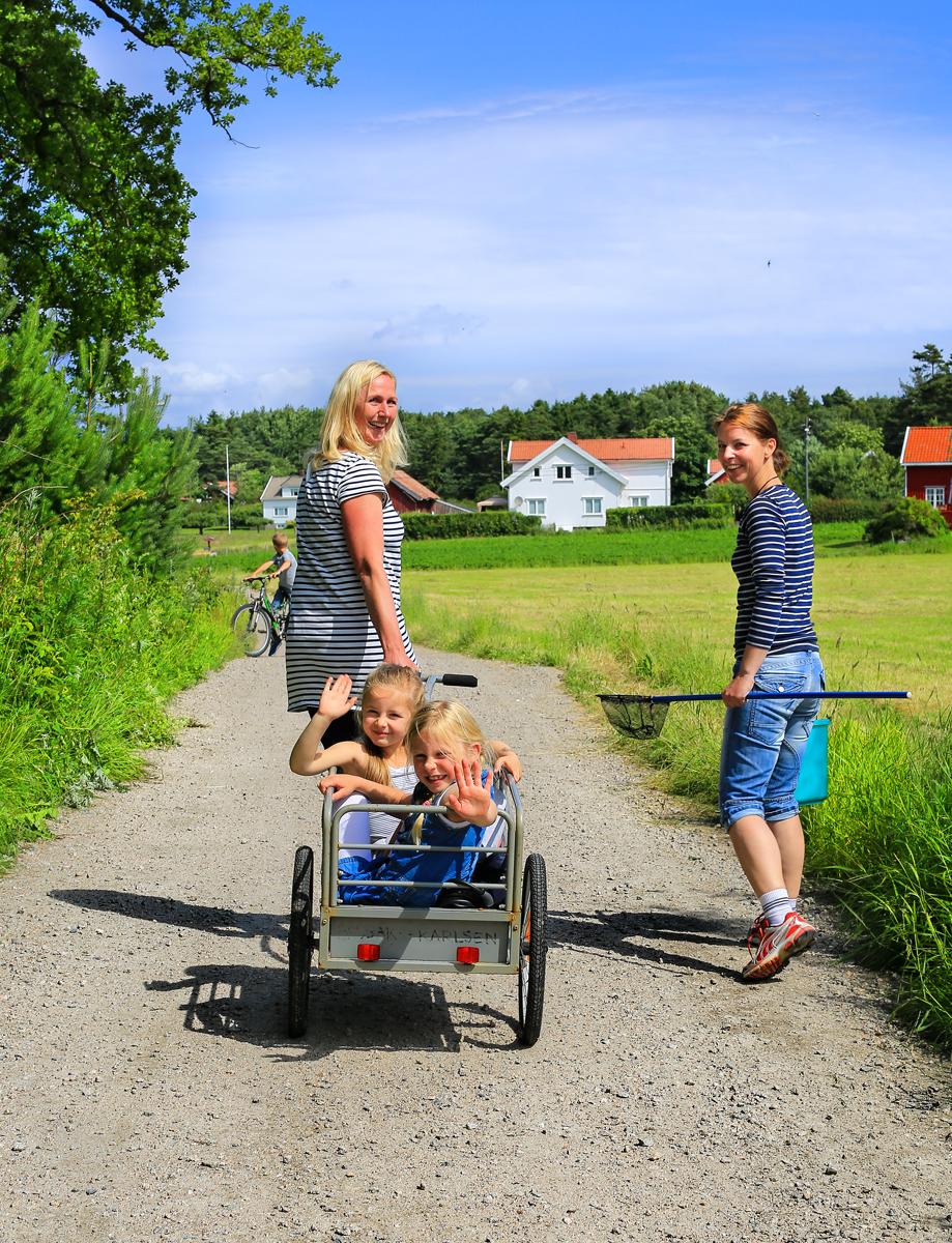Dagsbesøkende fra Fredrikstad på vei til krabbefiske.