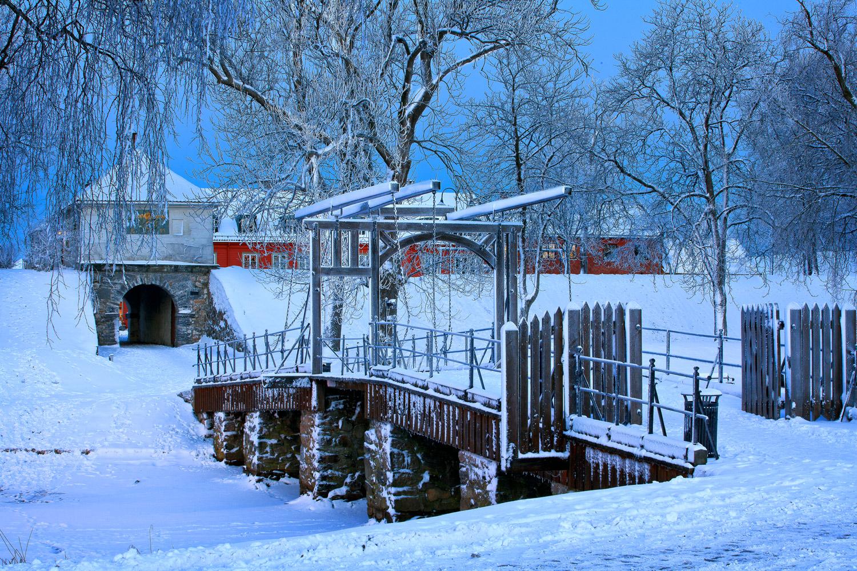 Desembermorgen i Gamlebyen i Fredrikstad
