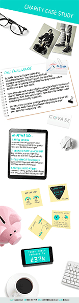 Covase fleet management charity case study infographic thumbnail