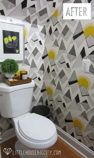 Toilet after wallpaper