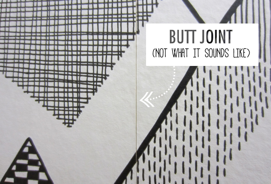 Wallpaper butt joint