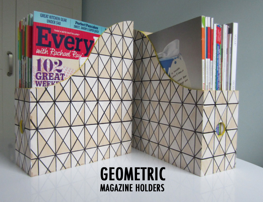 Ikea Hack: Geometric Magazine Holders