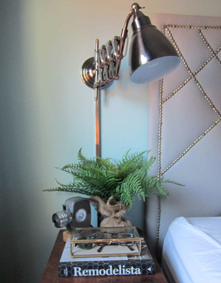 Accordion bedside sconces