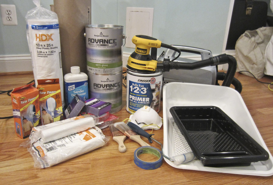 Supplies you'll need for painting your kitchen cabinets