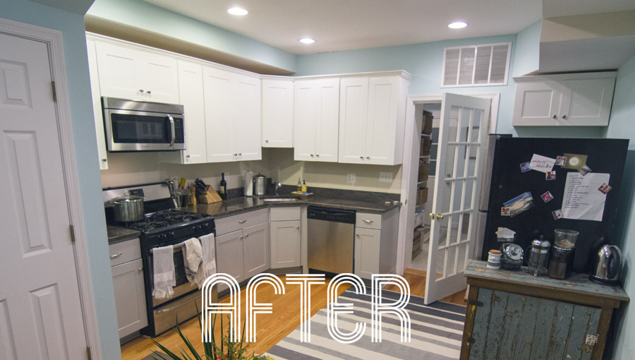 Paint alone made a huge difference in the kitchen