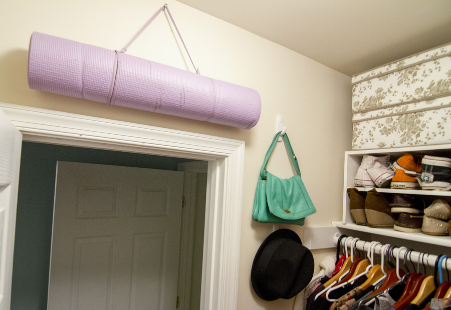 Command hooks make useful storage out of closet walls