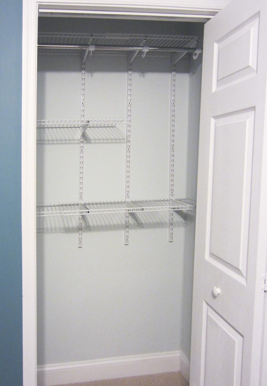 Empty guest room closet