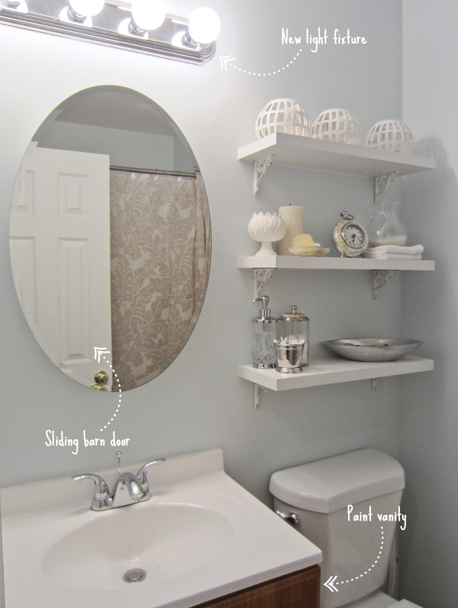 Here's where we are now, with some final to-do's in the master bath
