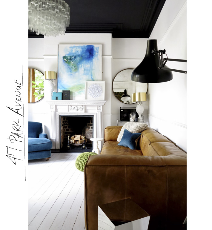 Beautiful white painted floors via 47parkav.blogspot.uk