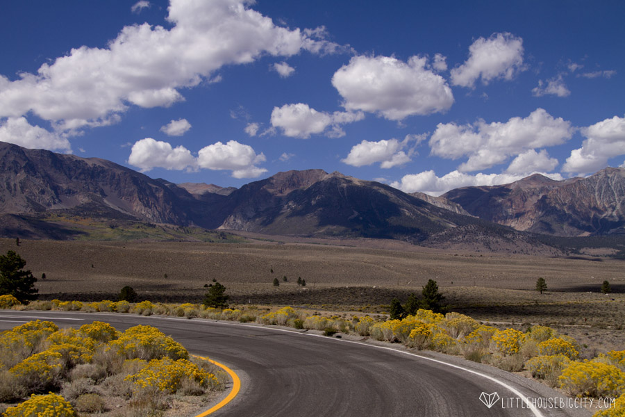 Winding road between Vegas and Death Valley