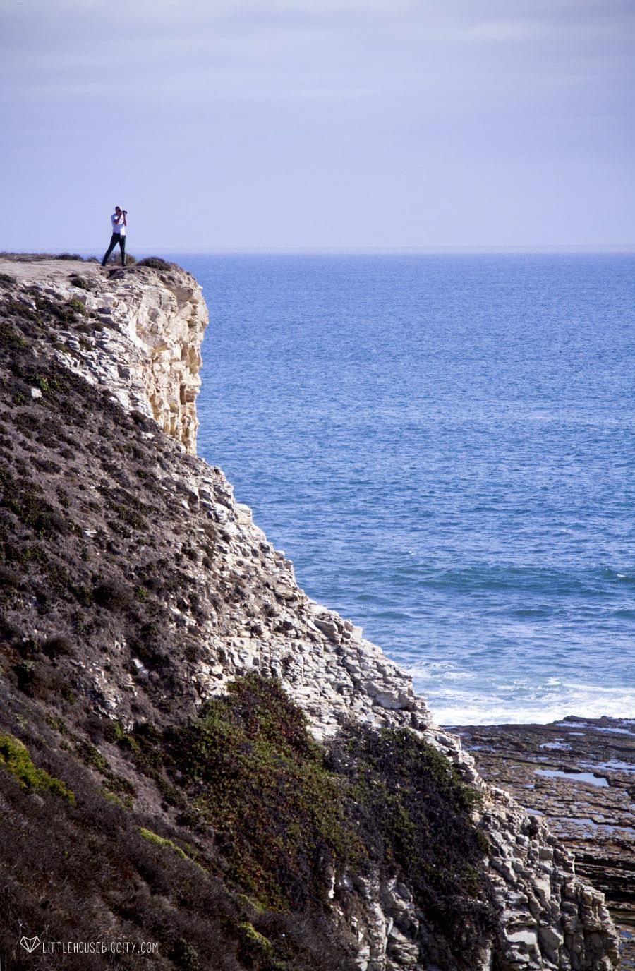 Eli filming the coast line along US 1