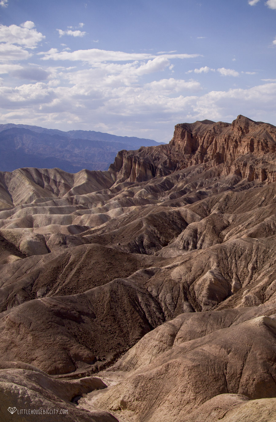 Zabriskie Point outside of Death Valley