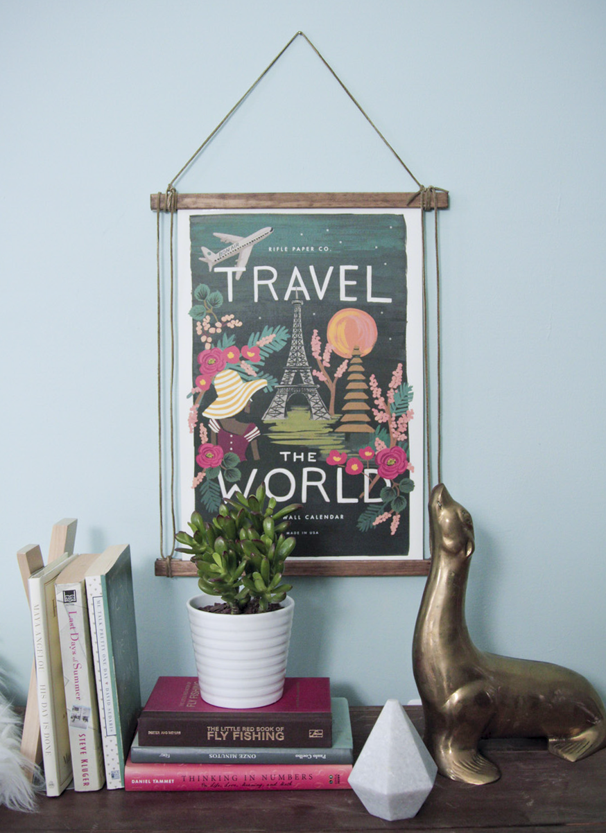 An effortless suede & wood frame DIY