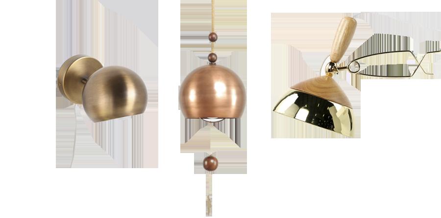 Eyeball sconce  UO |  Chime pendant  UO |  Modal lamp  Fab