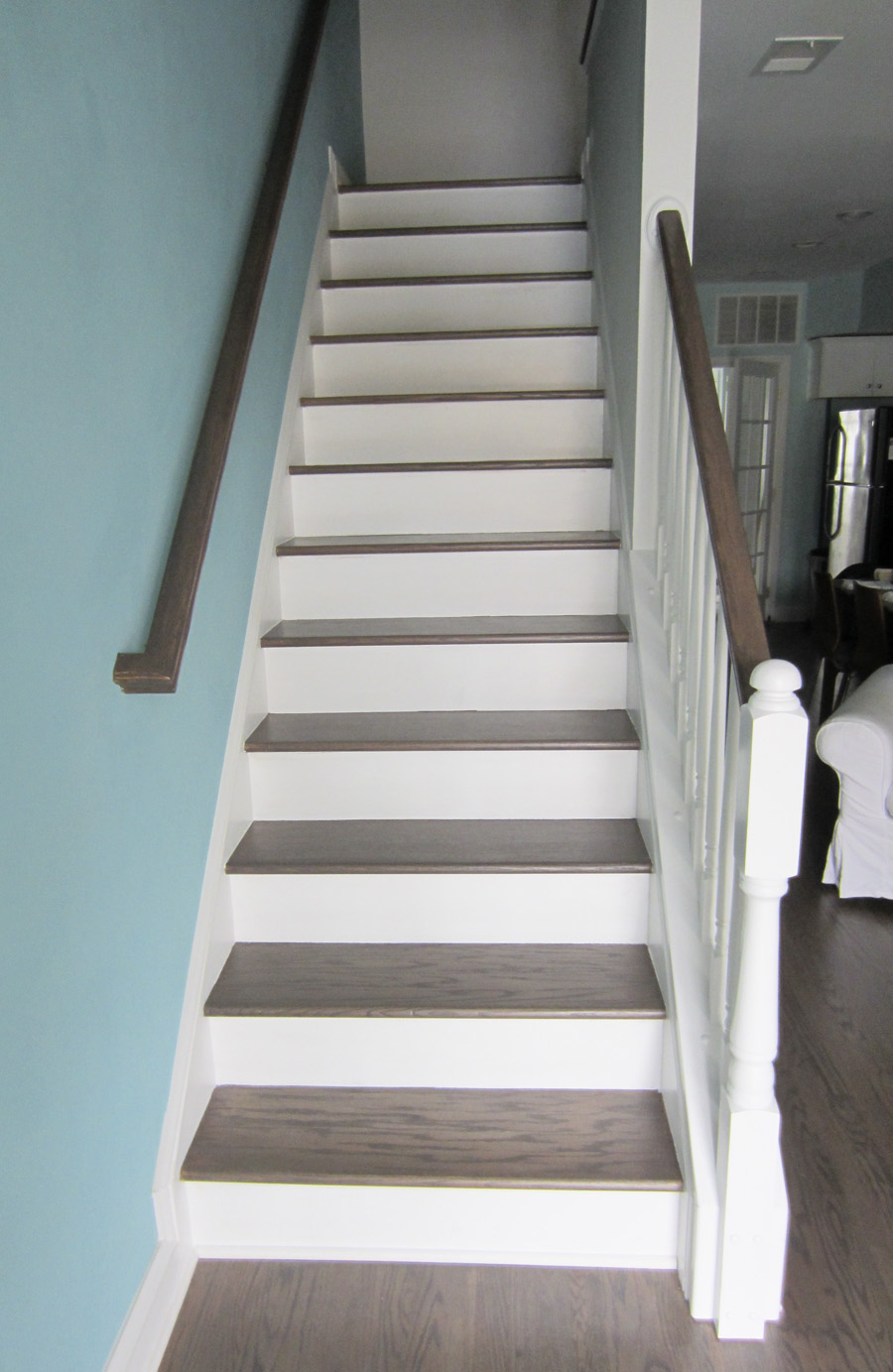 Refinishing the stair well was well-worth the effort!