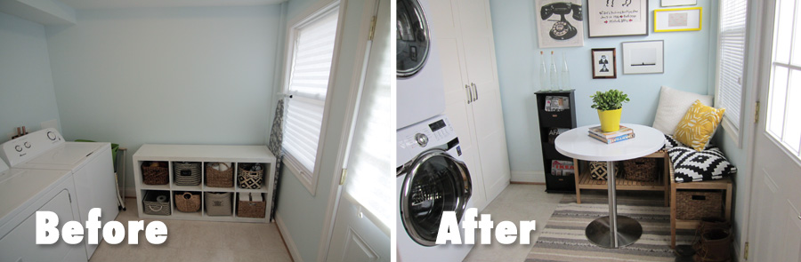 We transformed the laundry room into a multi-purpose area using a few simple ideas