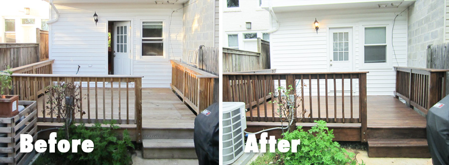 We stained & sealed the deck with Behr Premium weather proofer.