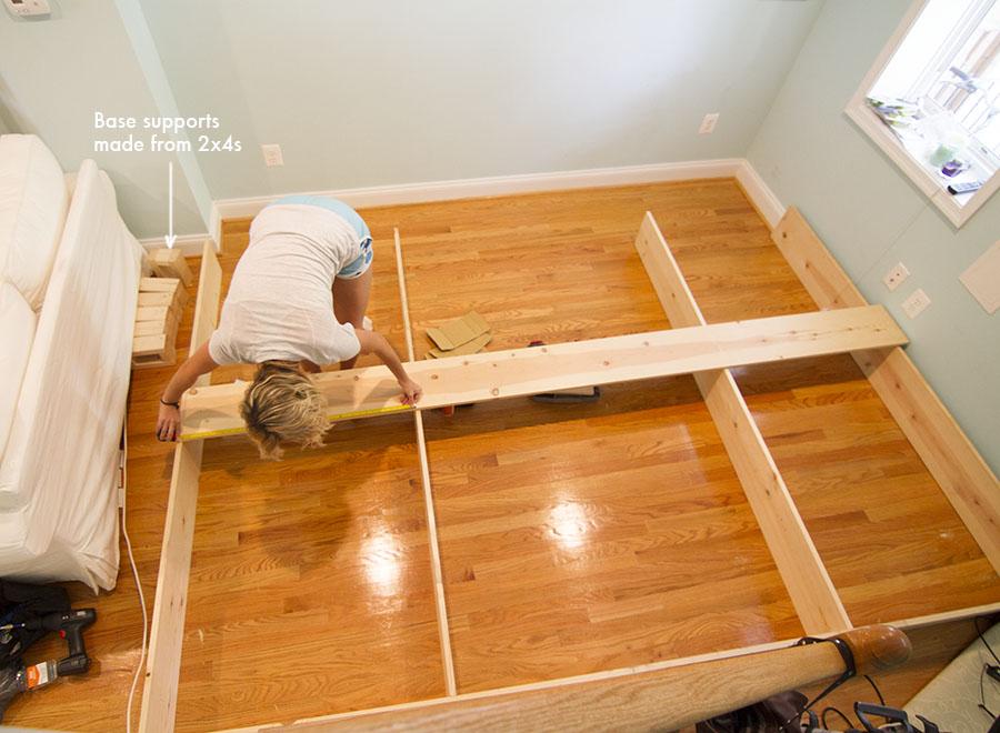 Constructing custom built-in bookcases