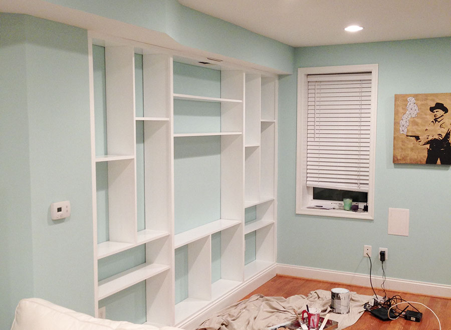 Constructing custom built-in-shelving