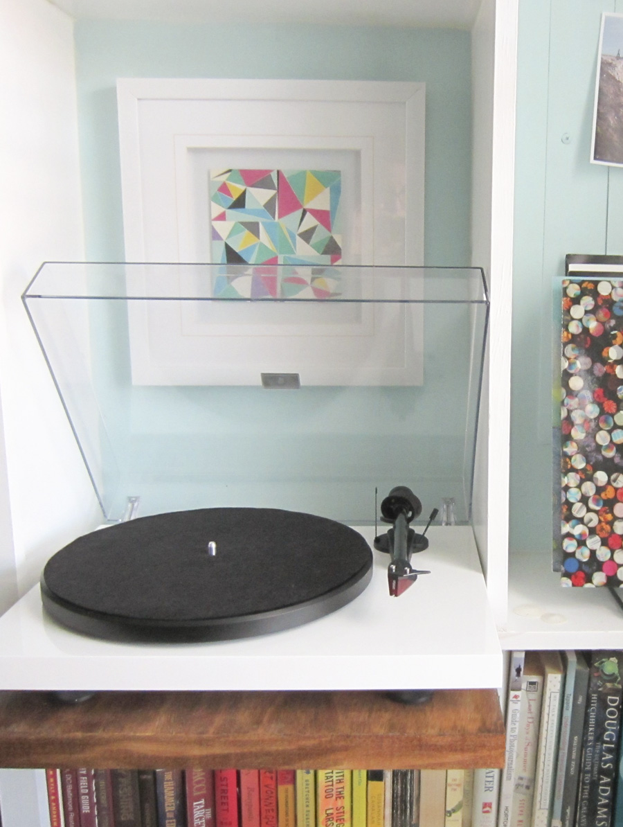 DIY Record player shelf extension via Little House Big City