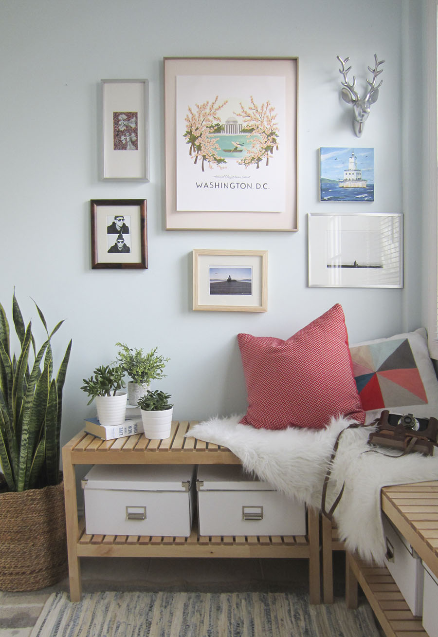 How to float mount pictures in a frame, via Little House Big City