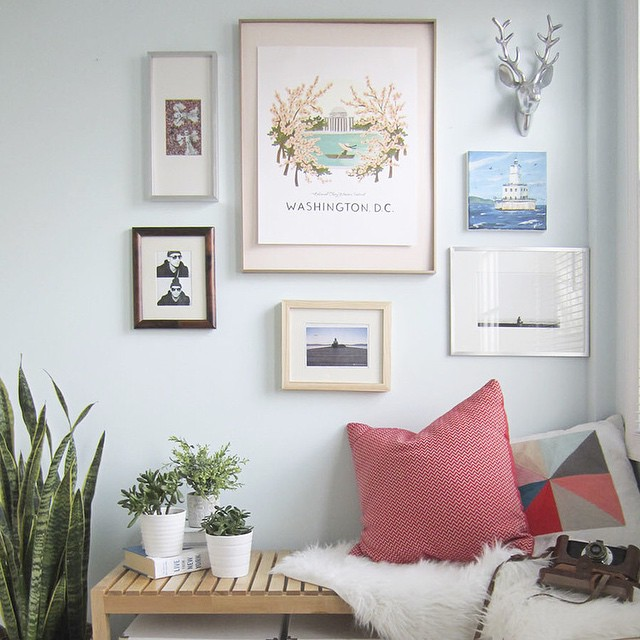 Today on the blog I'm sharing how to float mount your art, cuz Modest Mouse proved long ago that floating is *way* more fun. #art #diy #gallerywall