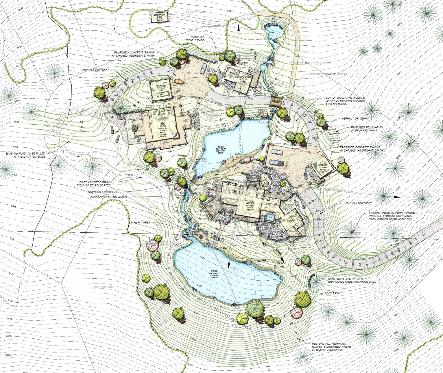 Master Planning - A blueprint for turning ideas into action.From design development to permitting and navigating local zoning codes, we guide each project from concept to completion for sites as diverse as full-scale residential development or a private ranch on a secluded property.