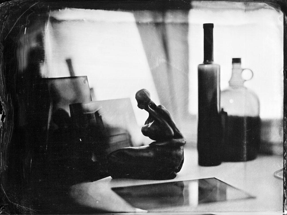 Ambrotips uz melna stikla 18x24