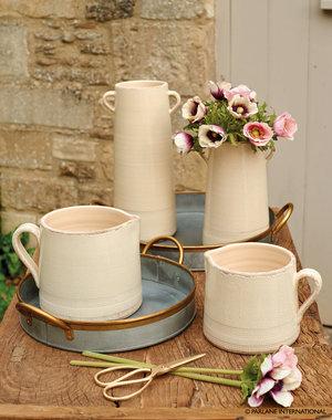 Single handle jugs - Large £ and small £ | Tall double handle jug £