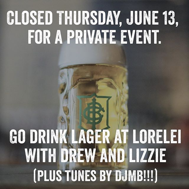 The Independent is closed tonight for a private event, but we're sending our head bartender @drewcranisky to our beer hall at @loreleipgh tonight, where he'll reunite with IBC alumna baeertender, @brusketeer.  Join them as they pour copious quantities of Lorelei lagers as our good friend and favorite artist @alternatehistories spins records!  Also, Lorelei will have a special tapping of @firestonewalker Lager and Bretta Rose (oak conditioned raspberry Berliner Weiss) for your enjoyment.  Prost!